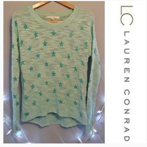 lauren conrad star knitted sweater